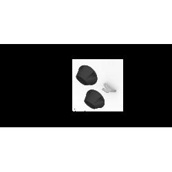 """4"""" Black Dual Billet Tip Kit with Bracket"""
