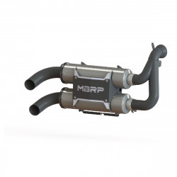 2015-UP RZR 900 - All Models Slip On Dual Exhaust Assembly